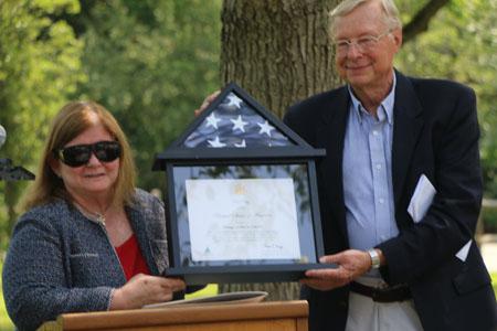 Congressman Suozzi's office presents United States flag
